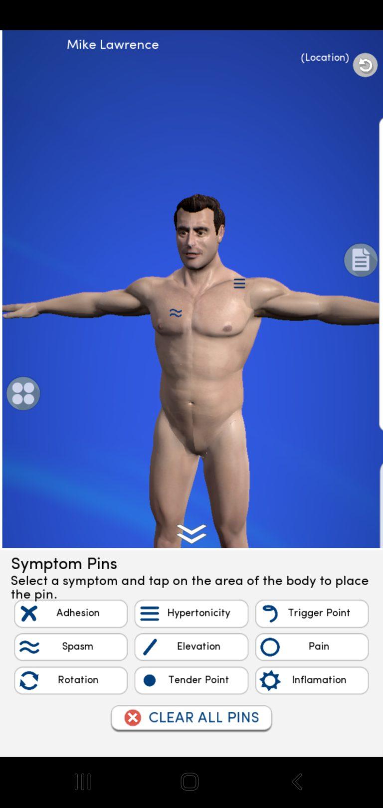 Adding Symptom Pins to 3D body
